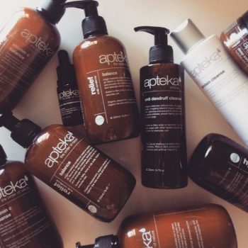 Apteka - A Natural Hair Care Range for Flaking Thinning Hair