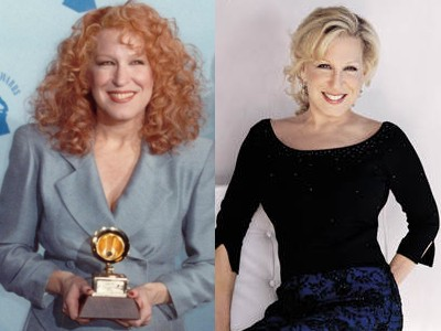 bette midler young old Top 10 Ageless Celebrity Beauties Over 55