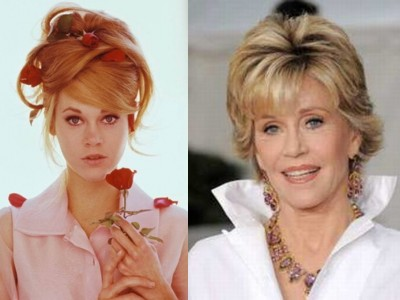 jane fonder young old Top 10 Ageless Celebrity Beauties Over 55