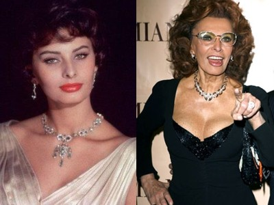 sophia loren young old Top 10 Ageless Celebrity Beauties Over 55