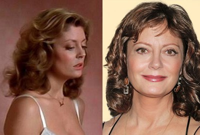 susan sarandon young old Top 10 Ageless Celebrity Beauties Over 55