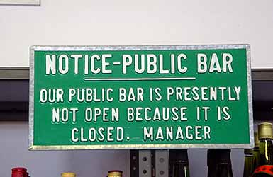 bar is not open Get Your Dose of Laughter For Today. It will Make You Younger.