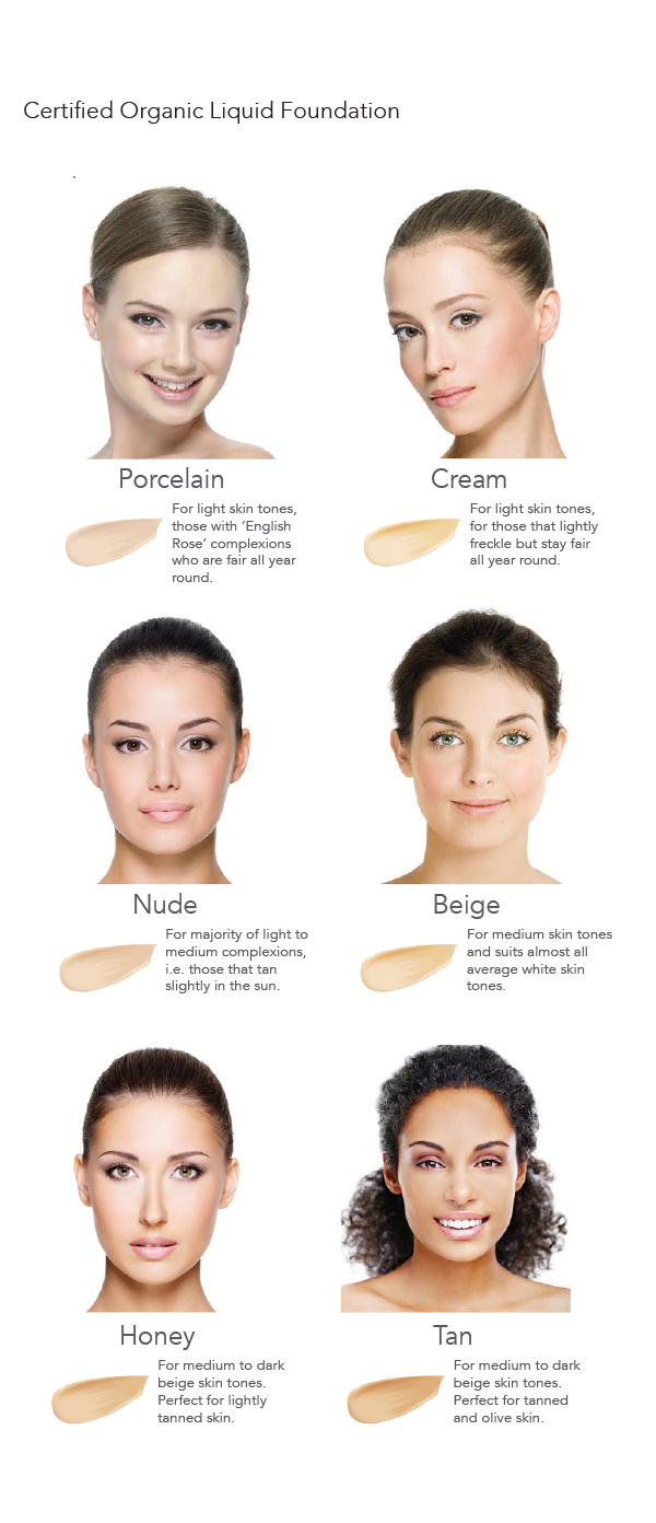 inika liquid foundation colour chart