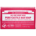 Dr Bronner All-One Hemp Pure Castile Soap Bars - Rose