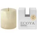 Ecoya Natural Pillar Plant Wax Candle - Vanilla Bean