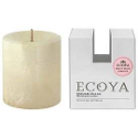Ecoya Natural Pillar Plant Wax Candle - Sweet Pea & Jasmine