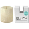 Ecoya Natural Pillar Plant Wax Candle - Lotus Flower
