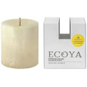 Ecoya Natural Pillar Plant Wax Candle - Lemongrass & Ginger