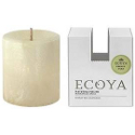 Ecoya Natural Pillar Plant Wax Candle - French Pear