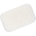 Konjac Sponge Baby Rectangular Puff - White Pure Moist