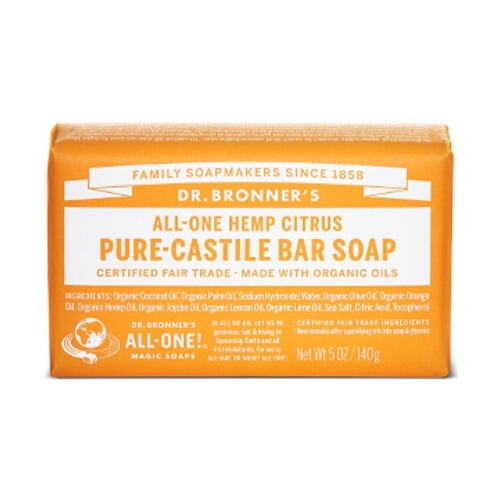 Dr Bronner Soap Bars - Citrus Orange