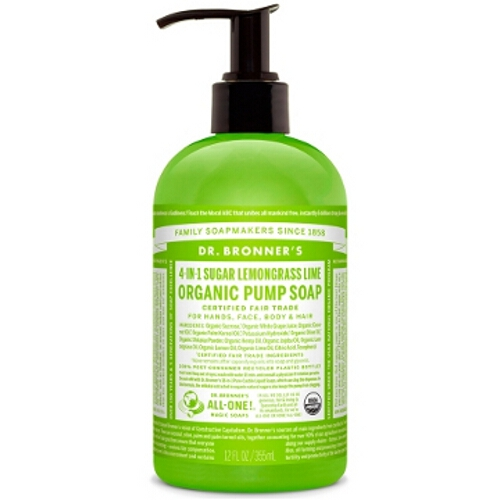 Dr Bronner Organic Pump Hand Soap - Lemongrass Lime