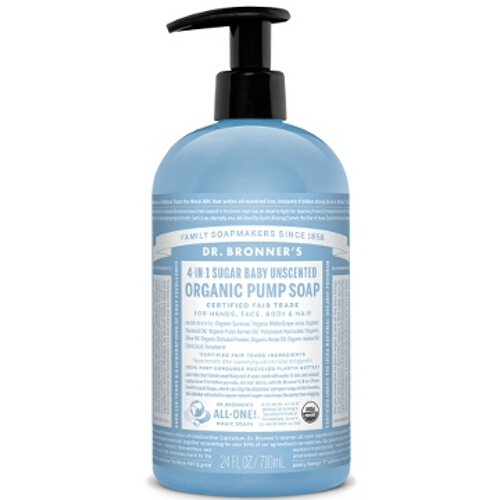 Dr Bronner Organic Pump Body Soap - Unscented Baby