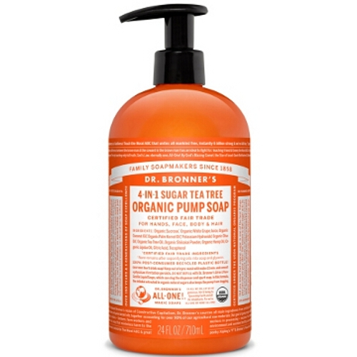 Dr Bronner Organic Pump Body Soap - Tea Tree
