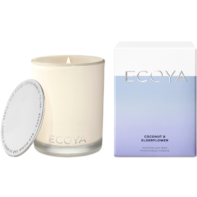 Ecoya Madison Jar Soy Candle - Coconut & Elderflower