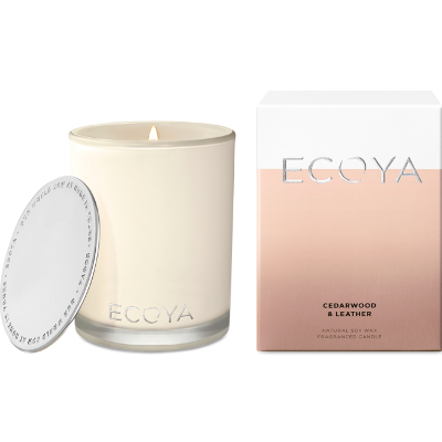Ecoya Madison Jar Soy Candle - Cedarwood Leather