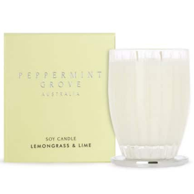 Peppermint Grove Large Soy Candle - Lemongrass Lime