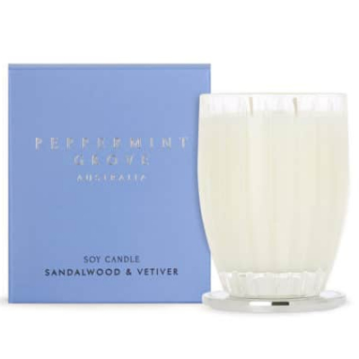 Peppermint Grove Large Soy Candle - Sandalwood & Vetiver