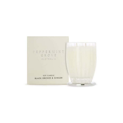 Peppermint Grove Small Soy Candle - Black Orchid & Ginger