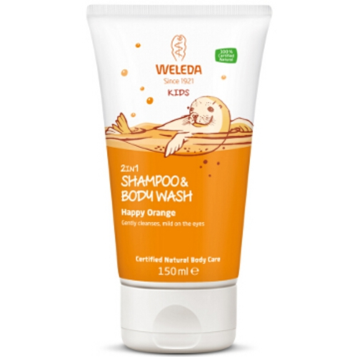 Weleda Kids 2 in 1 Shampoo & Body Wash - Happy Orange